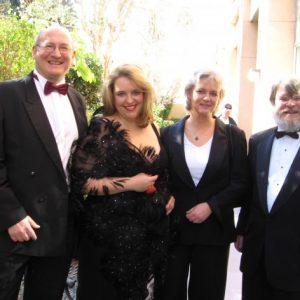 Aux grammys avec (gauche à droite) Stephen Stubbs, moi, Renate Wolter-Seevers, Paul O'Dette, février 2006