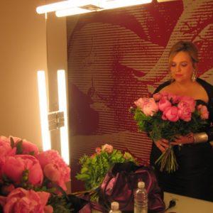 Fleurs en arrière scène à Baden Baden, mai 2009