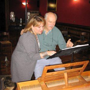 En répétition avec Alan Curtis, Lonigo janvier 2010