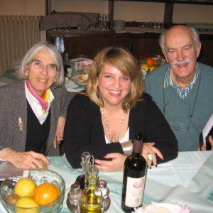 Petit moment de détente avec Donna Leon et Alan Curtis, janvier 2010