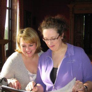 """Avec Ann Hallenberg. Enregistrement du projet """"Bestiario"""" de Donna Leon.Lonigo, Avril 2010"""