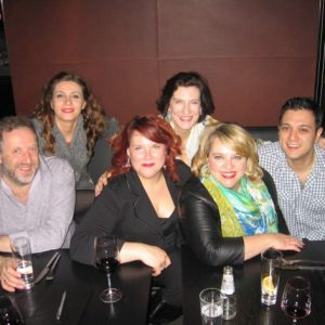 La tournée Ariodante 2012 (gauche à droite) Matthew Brook, Sabina Puertolas,Marie-Nicole Lemieux, Sarah Connolly, Moi, Nick Phan.