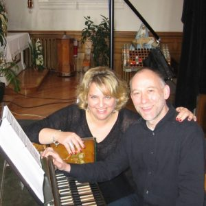 Avec Alex Weimann, enregistrement du projet Prima Donna, mai 2012