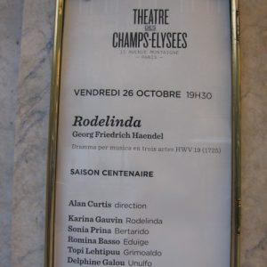 Théâtre des Champs-Élysées, octobre 2012